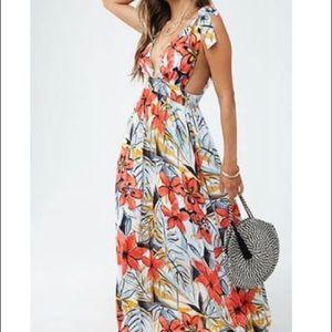 NWT F21 Floral Maxi Dress